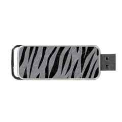 Skin3 Black Marble & Gray Colored Pencil (r) Portable Usb Flash (one Side)