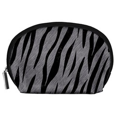 Skin3 Black Marble & Gray Colored Pencil (r) Accessory Pouches (large)
