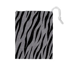 Skin3 Black Marble & Gray Colored Pencil (r) Drawstring Pouches (large)