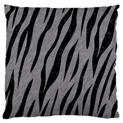 Skin3 Black Marble & Gray Colored Pencil (r) Large Flano Cushion Case (one Side)
