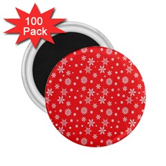 Xmas Pattern 2 25  Magnets (100 Pack)