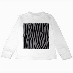 Skin4 Black Marble & Gray Colored Pencil Kids Long Sleeve T Shirts