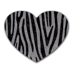 Skin4 Black Marble & Gray Colored Pencil Heart Mousepads