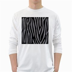 Skin4 Black Marble & Gray Colored Pencil (r) White Long Sleeve T Shirts