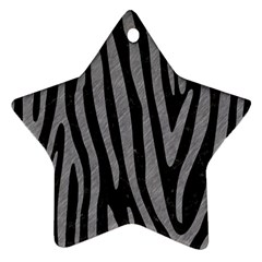 Skin4 Black Marble & Gray Colored Pencil (r) Star Ornament (two Sides)