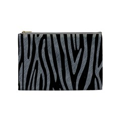 Skin4 Black Marble & Gray Colored Pencil (r) Cosmetic Bag (medium)