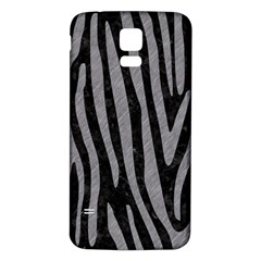 Skin4 Black Marble & Gray Colored Pencil (r) Samsung Galaxy S5 Back Case (white)