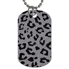 Skin5 Black Marble & Gray Colored Pencil Dog Tag (two Sides)