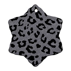 Skin5 Black Marble & Gray Colored Pencil Ornament (snowflake)