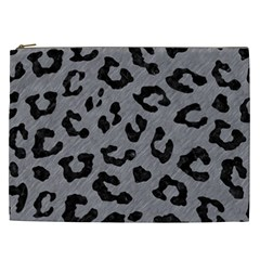 Skin5 Black Marble & Gray Colored Pencil Cosmetic Bag (xxl)