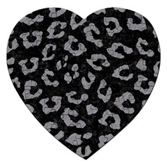 Skin5 Black Marble & Gray Colored Pencil (r) Jigsaw Puzzle (heart)
