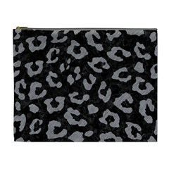 Skin5 Black Marble & Gray Colored Pencil (r) Cosmetic Bag (xl)