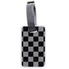 Square1 Black Marble & Gray Colored Pencil Luggage Tags (two Sides)