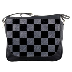 Square1 Black Marble & Gray Colored Pencil Messenger Bags