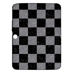 Square1 Black Marble & Gray Colored Pencil Samsung Galaxy Tab 3 (10 1 ) P5200 Hardshell Case