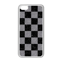 Square1 Black Marble & Gray Colored Pencil Apple Iphone 5c Seamless Case (white)