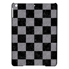 Square1 Black Marble & Gray Colored Pencil Ipad Air Hardshell Cases