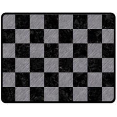 Square1 Black Marble & Gray Colored Pencil Double Sided Fleece Blanket (medium)