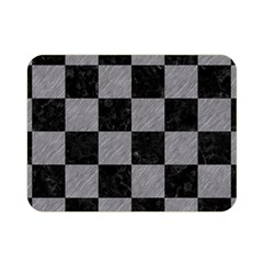 Square1 Black Marble & Gray Colored Pencil Double Sided Flano Blanket (mini)