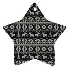 Xmas Pattern Star Ornament (two Sides)
