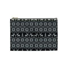 Xmas Pattern Cosmetic Bag (medium)