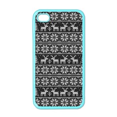 Xmas Pattern Apple Iphone 4 Case (color)