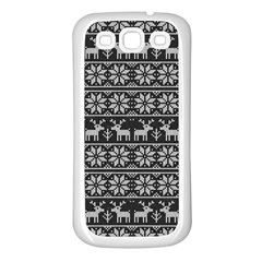 Xmas Pattern Samsung Galaxy S3 Back Case (white)