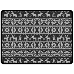 Xmas Pattern Double Sided Fleece Blanket (large)