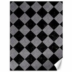 Square2 Black Marble & Gray Colored Pencil Canvas 36  X 48