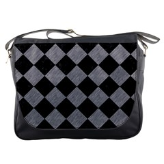 Square2 Black Marble & Gray Colored Pencil Messenger Bags
