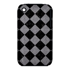 Square2 Black Marble & Gray Colored Pencil Iphone 3s/3gs
