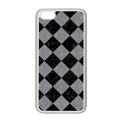 Square2 Black Marble & Gray Colored Pencil Apple Iphone 5c Seamless Case (white)