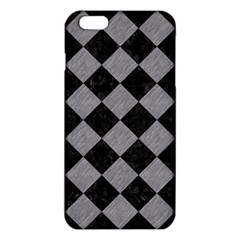 Square2 Black Marble & Gray Colored Pencil Iphone 6 Plus/6s Plus Tpu Case