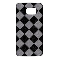 Square2 Black Marble & Gray Colored Pencil Galaxy S6