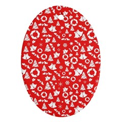 Xmas Pattern Ornament (oval)