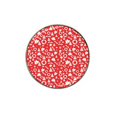 Xmas Pattern Hat Clip Ball Marker