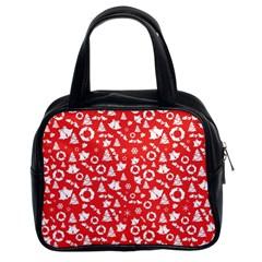 Xmas Pattern Classic Handbags (2 Sides)