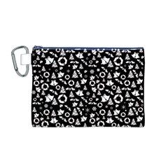Xmas Pattern Canvas Cosmetic Bag (m)