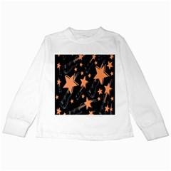Guitar Star Rain Kids Long Sleeve T Shirts