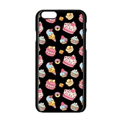 Sweet Pattern Apple Iphone 6/6s Black Enamel Case