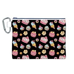 Sweet Pattern Canvas Cosmetic Bag (l)