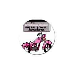 Biker Babe Golf Ball Marker