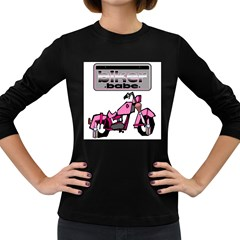 Biker Babe Women s Long Sleeve Dark T Shirts