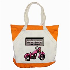 Biker Babe Accent Tote Bag