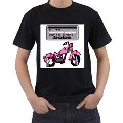 Biker Babe Men s T Shirt (black)