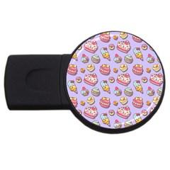 Sweet Pattern Usb Flash Drive Round (2 Gb)