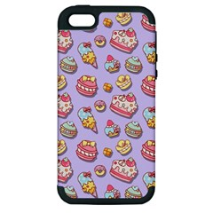 Sweet Pattern Apple Iphone 5 Hardshell Case (pc+silicone)