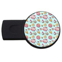 Sweet Pattern Usb Flash Drive Round (4 Gb)