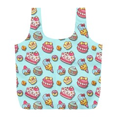Sweet Pattern Full Print Recycle Bags (l)