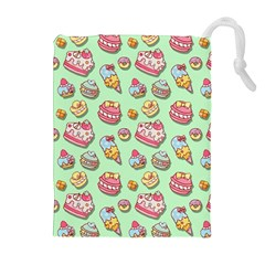 Sweet Pattern Drawstring Pouches (extra Large)